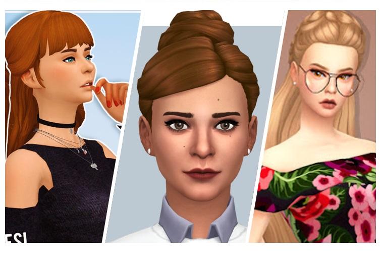 Miradas ganadoras con contenido personalizado sims 4 peinados Imagen de tutoriales de color de pelo - CC: 4 peinados elegantes para chicas - Simlish 4